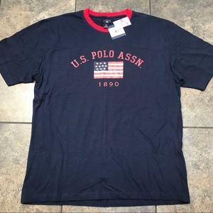 NEW! VTG U.S. Polo Assn. S/S T-Shirt Size 2XL